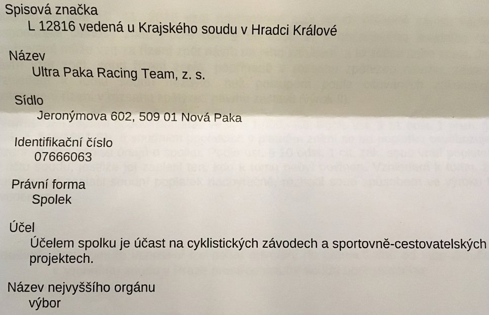 "Je tu ""Ultra Paka Racing Team, z. s."""